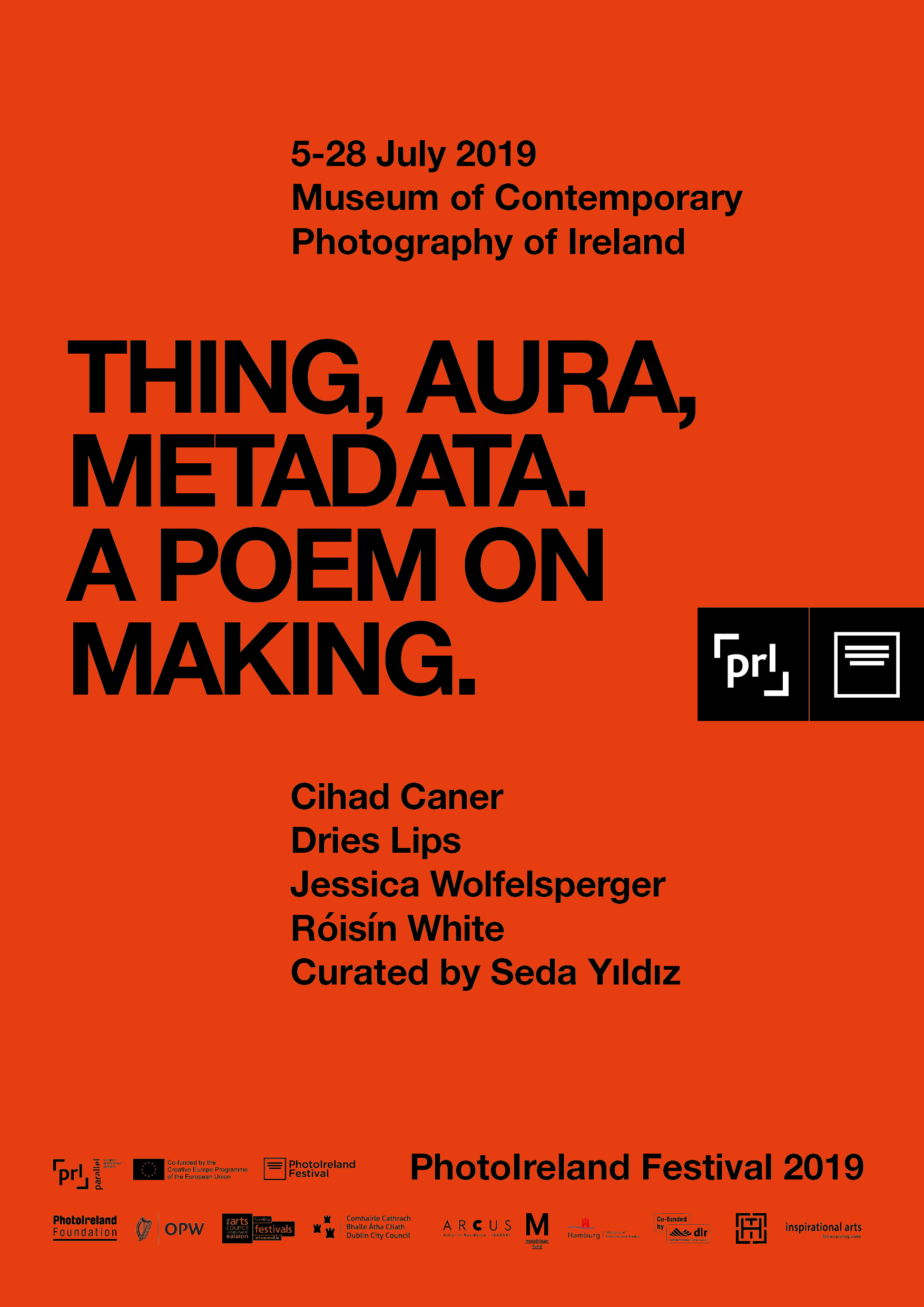 thing, aura, metadata. A poem on making.